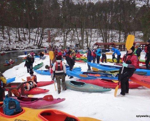 XVIII Ogólnopolski Zimowy Spływ Kajakowy Wda