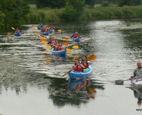Spływ kajakowy studentów Turystyki i Rekreacji